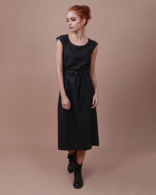 Платье с поясом внутри м.030
