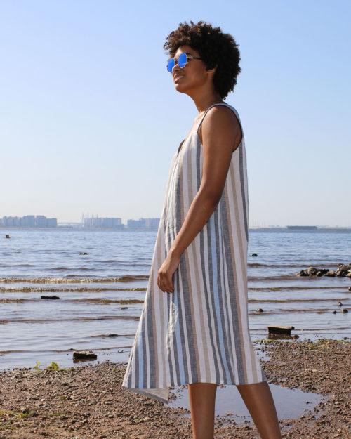 Платье два цвета м.031